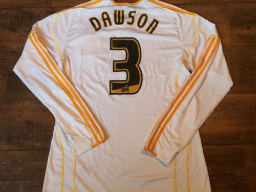 2010 2011 Hull City Dawson No 3 L/s Away Football Shirt Adults Large